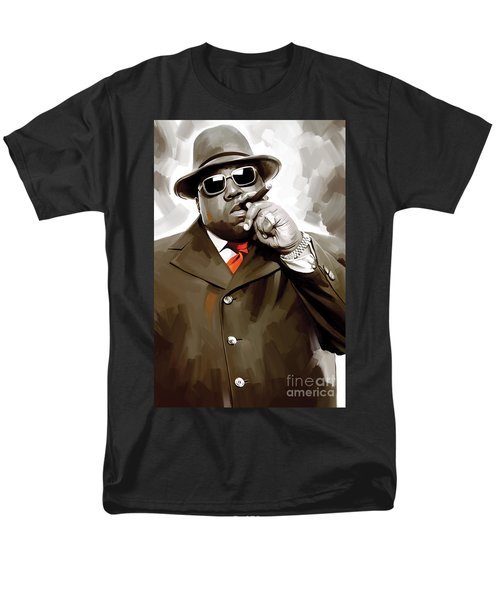 Notorious Big - Biggie Smalls Artwork 3 Men's T-Shirt  (Regular Fit) by Sheraz A
