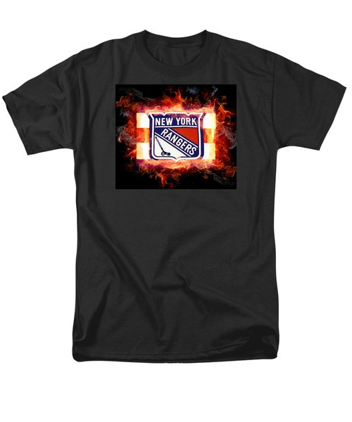 Men's T-Shirt  (Regular Fit) featuring the digital art Ny Rangers Are Hot by Nina Bradica