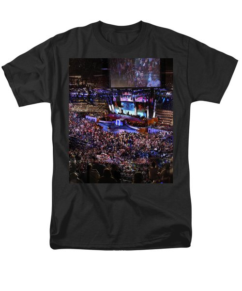 Obama And Biden At 2008 Convention Men's T-Shirt  (Regular Fit) by Stephen Farley