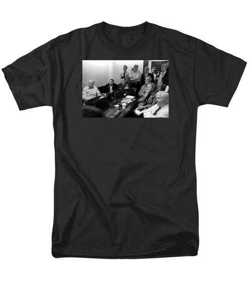 Obama In White House Situation Room Men's T-Shirt  (Regular Fit) by War Is Hell Store