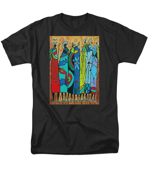Men's T-Shirt  (Regular Fit) featuring the painting Oceania by Clarity Artists