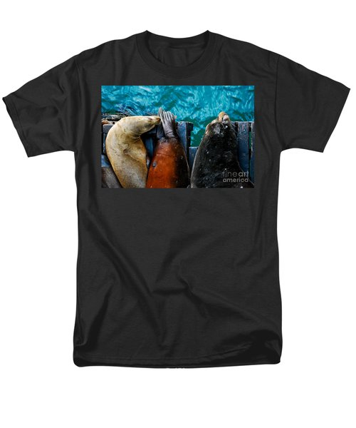 Odd Man Out California Sea Lions Men's T-Shirt  (Regular Fit) by Terry Garvin