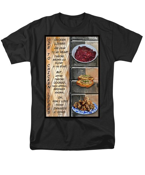Ode To Chicken Livers Men's T-Shirt  (Regular Fit) by Paula Ayers