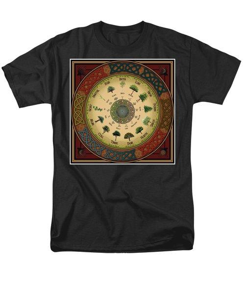 Ogham Tree Calendar Men's T-Shirt  (Regular Fit) by Ireland Calling