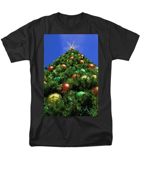 Men's T-Shirt  (Regular Fit) featuring the photograph Oh Christmas Tree by Kathy Churchman