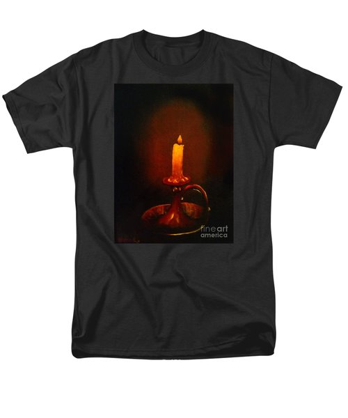 Old Candle Stick Painting Men's T-Shirt  (Regular Fit) by Becky Lupe