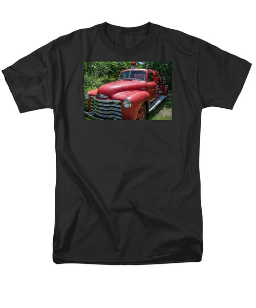 Old Chevy Fire Engine Men's T-Shirt  (Regular Fit) by Susan  McMenamin