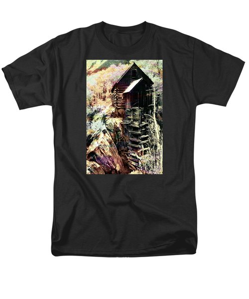Old Crystal Mill Crystal Colorado Men's T-Shirt  (Regular Fit) by Paula Ayers