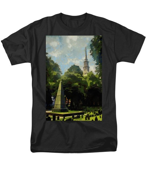Men's T-Shirt  (Regular Fit) featuring the painting Old Granery Burying Ground by Jeff Kolker