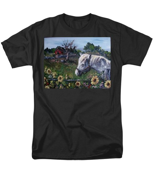 Men's T-Shirt  (Regular Fit) featuring the painting Old Grey Mare by Megan Walsh
