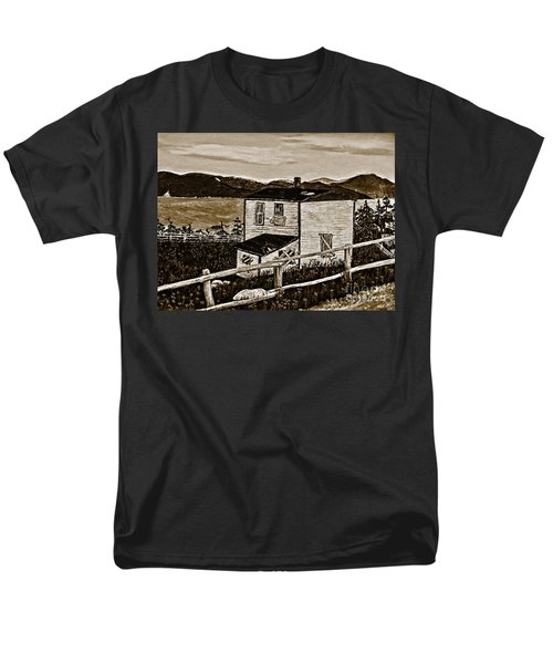 Old House In Sepia Men's T-Shirt  (Regular Fit) by Barbara Griffin