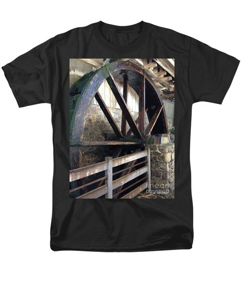 Men's T-Shirt  (Regular Fit) featuring the photograph Old Mill Water Wheel by Jeannie Rhode