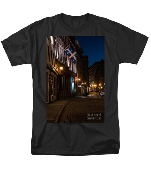 Old Montreal At Night Men's T-Shirt  (Regular Fit) by Cheryl Baxter