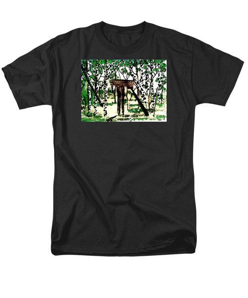 Men's T-Shirt  (Regular Fit) featuring the painting Old Obstacles by Denise Tomasura
