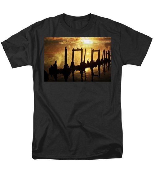 Men's T-Shirt  (Regular Fit) featuring the photograph Old Pier At Sunset by Marty Koch