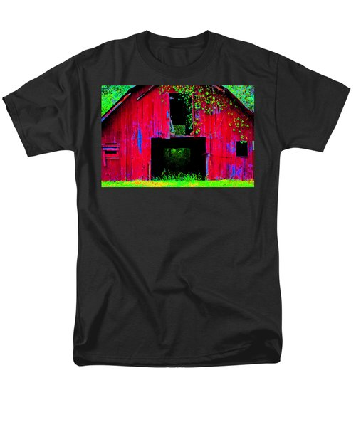 Men's T-Shirt  (Regular Fit) featuring the photograph Old Red Barn Iv by Lanita Williams