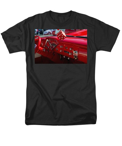 Men's T-Shirt  (Regular Fit) featuring the photograph Old Red Chevy Dash by Tikvah's Hope