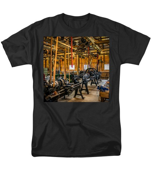Old School Machine Shop Men's T-Shirt  (Regular Fit) by Paul Freidlund