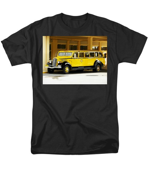 Men's T-Shirt  (Regular Fit) featuring the photograph Old Time Yellowstone Bus by David Lawson