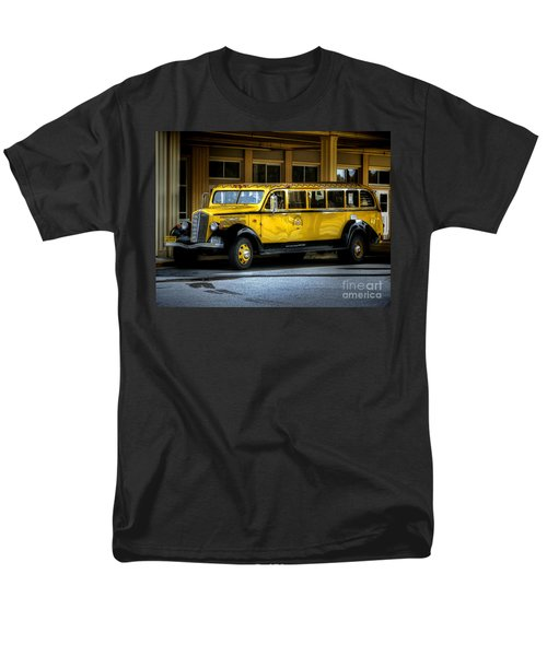 Old Time Yellowstone Bus II Men's T-Shirt  (Regular Fit) by David Lawson
