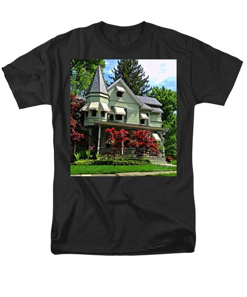 Men's T-Shirt  (Regular Fit) featuring the photograph Old Victorian With Awnings by Becky Lupe