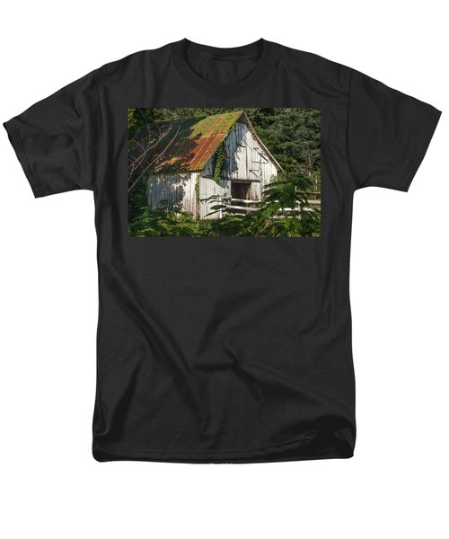 Old Whitewashed Barn In Tennessee Men's T-Shirt  (Regular Fit) by Debbie Karnes