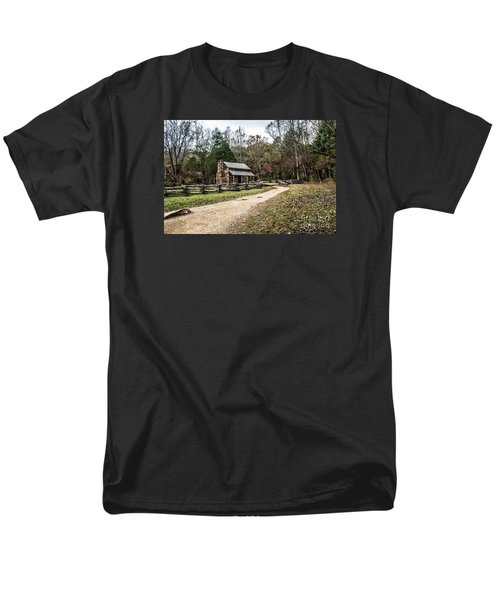 Men's T-Shirt  (Regular Fit) featuring the photograph Oliver's Log Cabin by Debbie Green