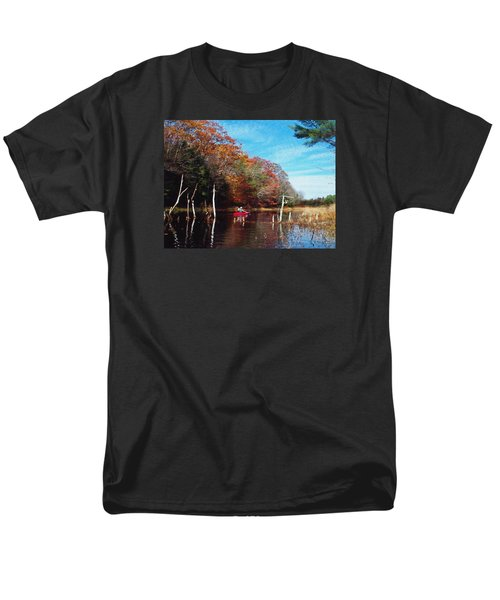 Men's T-Shirt  (Regular Fit) featuring the photograph On Schoolhouse Pond Brook by Joy Nichols