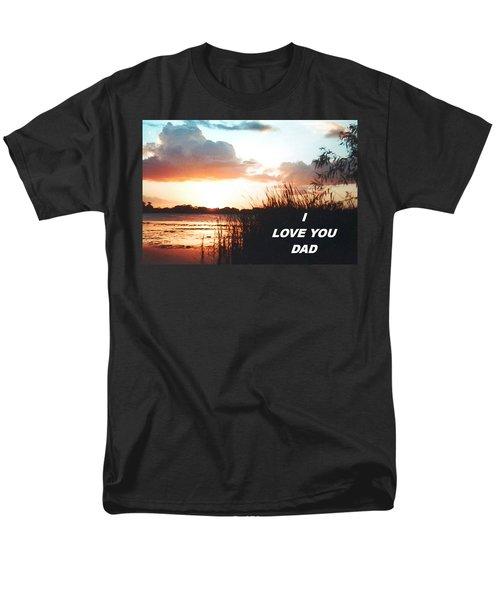 Lake Deer At Sunrise Men's T-Shirt  (Regular Fit) by Belinda Lee