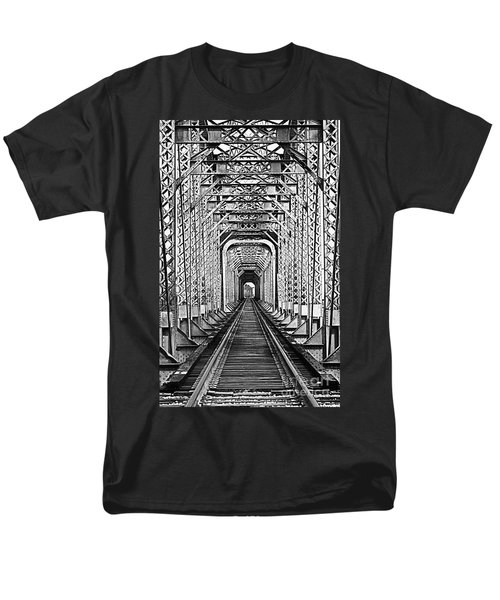 On The Right Track Men's T-Shirt  (Regular Fit) by Barbara Chichester