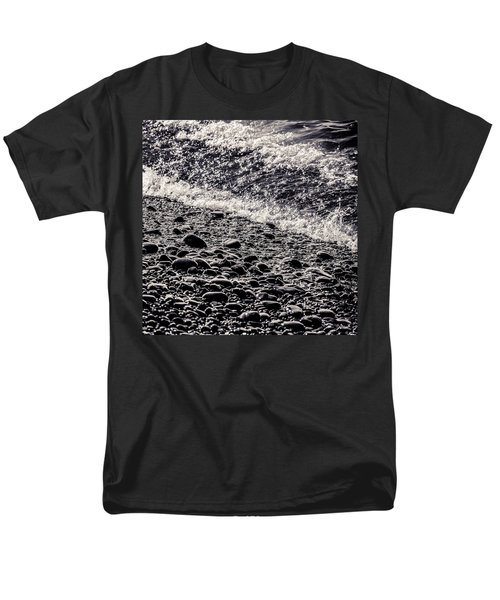 On The Rocks  French Beach Square Men's T-Shirt  (Regular Fit) by Roxy Hurtubise