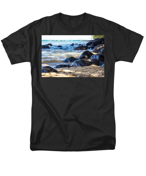 Men's T-Shirt  (Regular Fit) featuring the photograph On The Rocks by Suzanne Luft