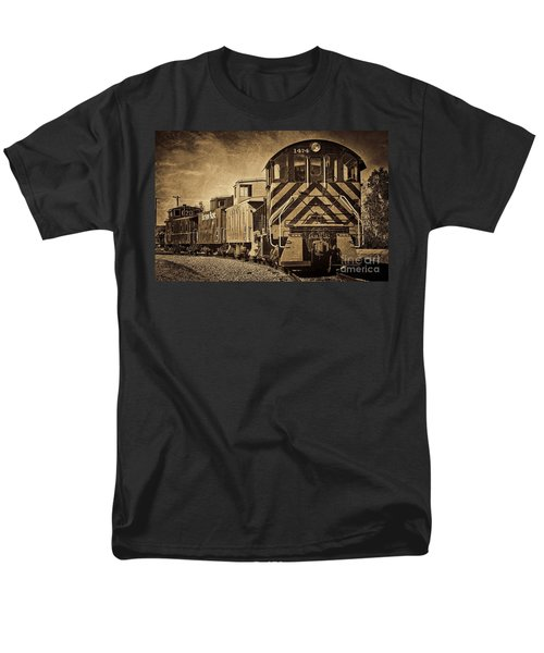 Men's T-Shirt  (Regular Fit) featuring the photograph On The Tracks... Take Two. by Peggy Hughes