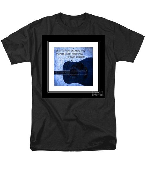 One More Way - Waylon Jennings Men's T-Shirt  (Regular Fit) by Barbara Griffin