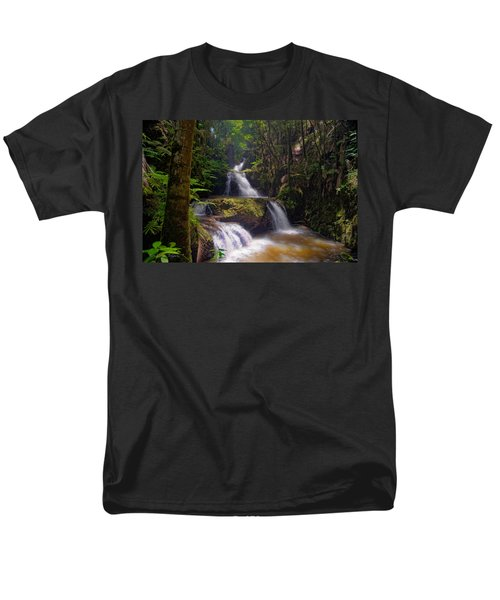 Men's T-Shirt  (Regular Fit) featuring the photograph Onomea Falls by Jim Thompson