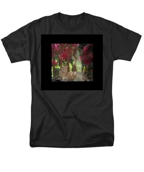 Men's T-Shirt  (Regular Fit) featuring the photograph Orange Cat In The Shade by Absinthe Art By Michelle LeAnn Scott
