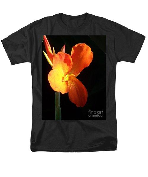 Orange Flower Canna Men's T-Shirt  (Regular Fit) by Eric  Schiabor