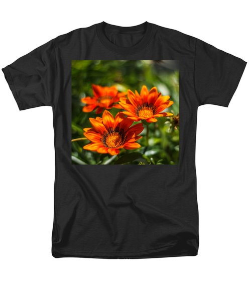 Men's T-Shirt  (Regular Fit) featuring the photograph Orange Flowers by Jane Luxton