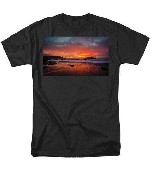 Orange Glow Men's T-Shirt  (Regular Fit) by Linda Villers