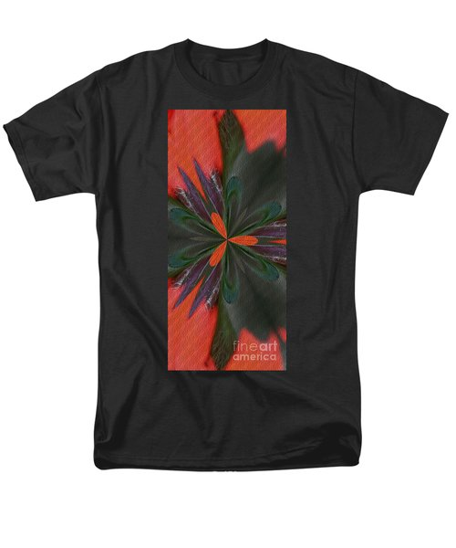 Men's T-Shirt  (Regular Fit) featuring the digital art Orange Green And Purple by Smilin Eyes  Treasures