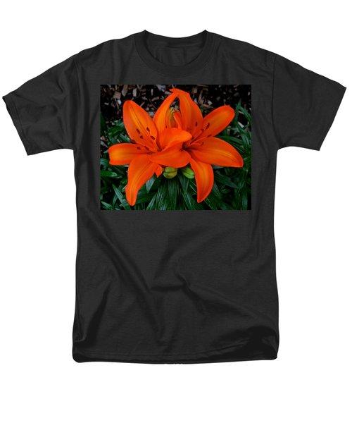 Orange Lilies Men's T-Shirt  (Regular Fit) by Jeff Gater