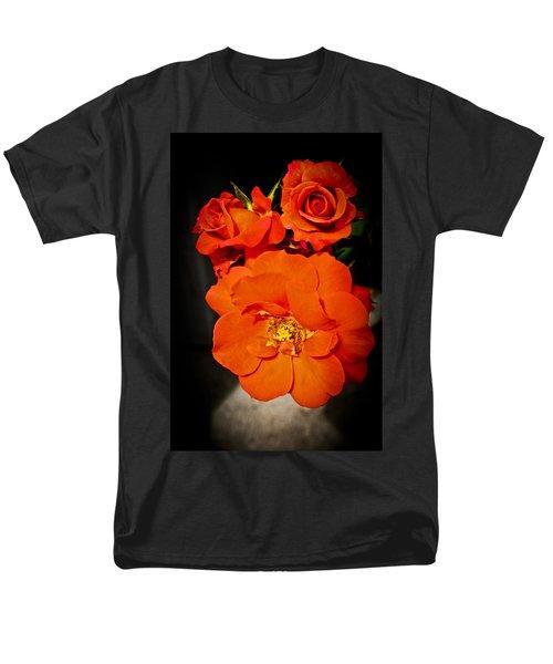 Men's T-Shirt  (Regular Fit) featuring the photograph Orange Rose Trio by Joann Copeland-Paul