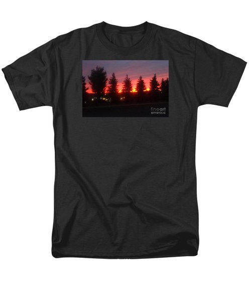 Men's T-Shirt  (Regular Fit) featuring the photograph Orange Sunset by Christina Verdgeline