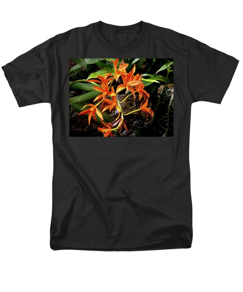 Orange Tendrils Men's T-Shirt  (Regular Fit) by Rodney Lee Williams