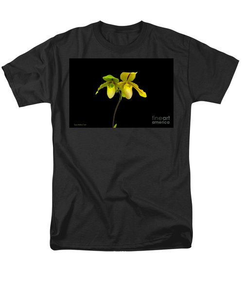 Orchid Paphiopedilum Druid Spring Men's T-Shirt  (Regular Fit) by Susan Wiedmann