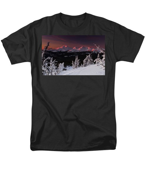 Men's T-Shirt  (Regular Fit) featuring the photograph Oregon Cascades Winter Sunset by Kevin Desrosiers