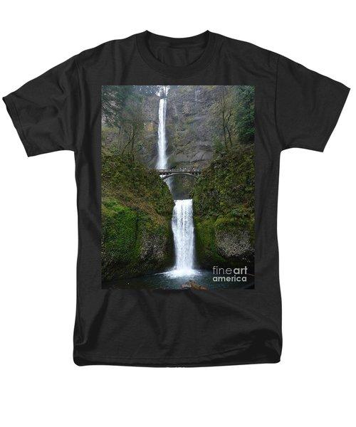 Oregon Long Shot Of  Falls Men's T-Shirt  (Regular Fit) by Susan Garren