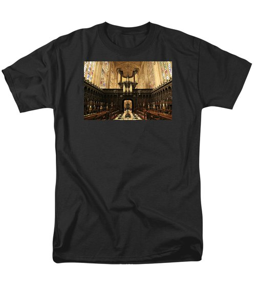 Organ And Choir - King's College Chapel Men's T-Shirt  (Regular Fit) by Stephen Stookey