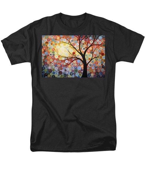Original Painting Print Titled Celestial Sunset Men's T-Shirt  (Regular Fit)