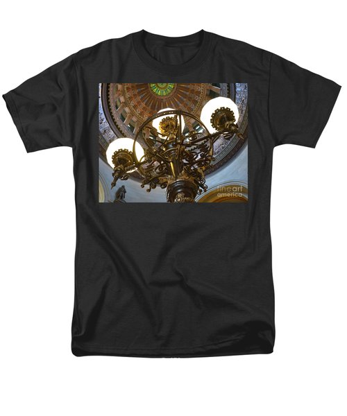 Ornate Lighting - Sprngfield Illinois Capitol Men's T-Shirt  (Regular Fit) by Luther Fine Art